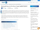 How to Fix Error Code 0x80070005