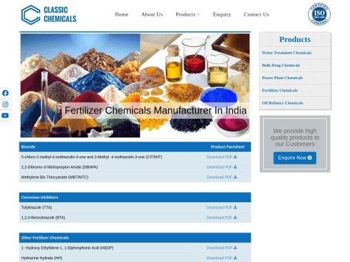 High Quality Fertilizer Chemicals Manufacturer In India   Classic Chemicals