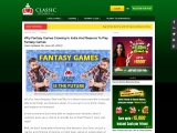 Why Fantasy Games Growning In India And Reasons To Play Fantasy Games