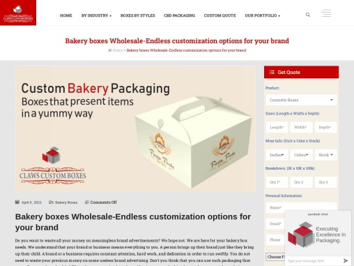 make Your Food More Effect With Bakery Boxes Wholesale
