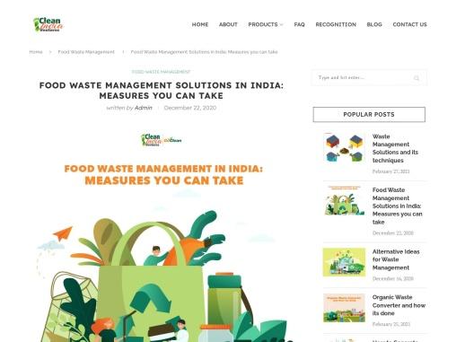 Food waste management India | Clean India Ventures