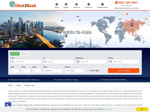 Flights to Asia | Cheap Deals on Asia Flights – Click2Book