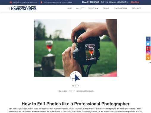 How to Edit Photos like a Professional Photographer