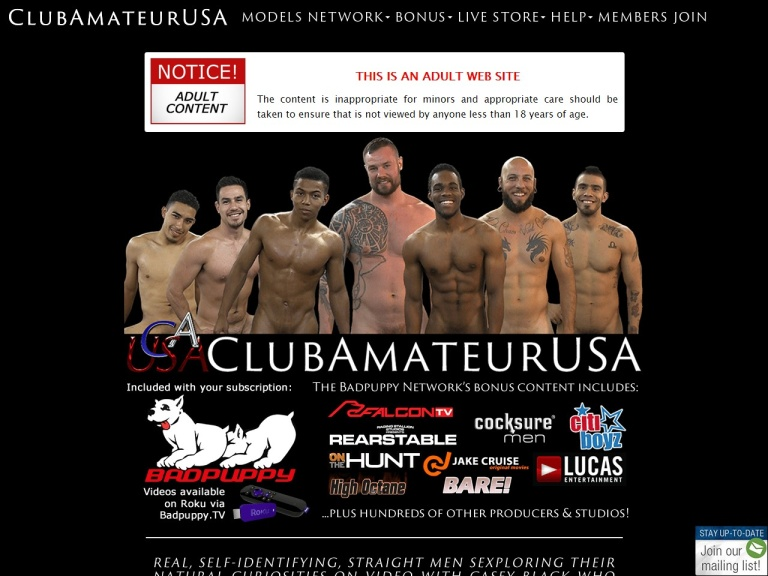 ClubAmateurUSA.com screenshot