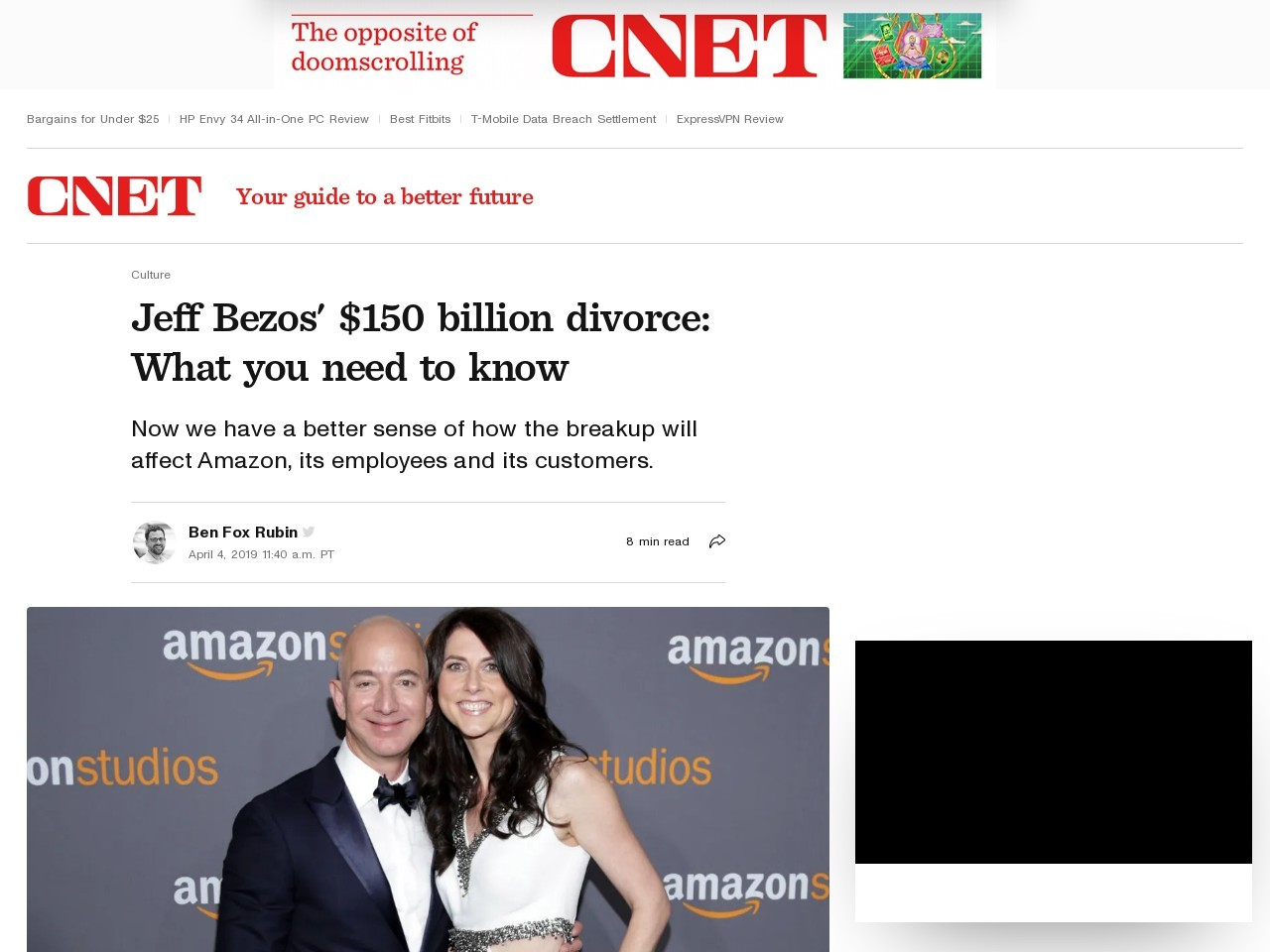 Amazon CEO Jeff Bezos' $140B divorce: What you need to know     – CNET