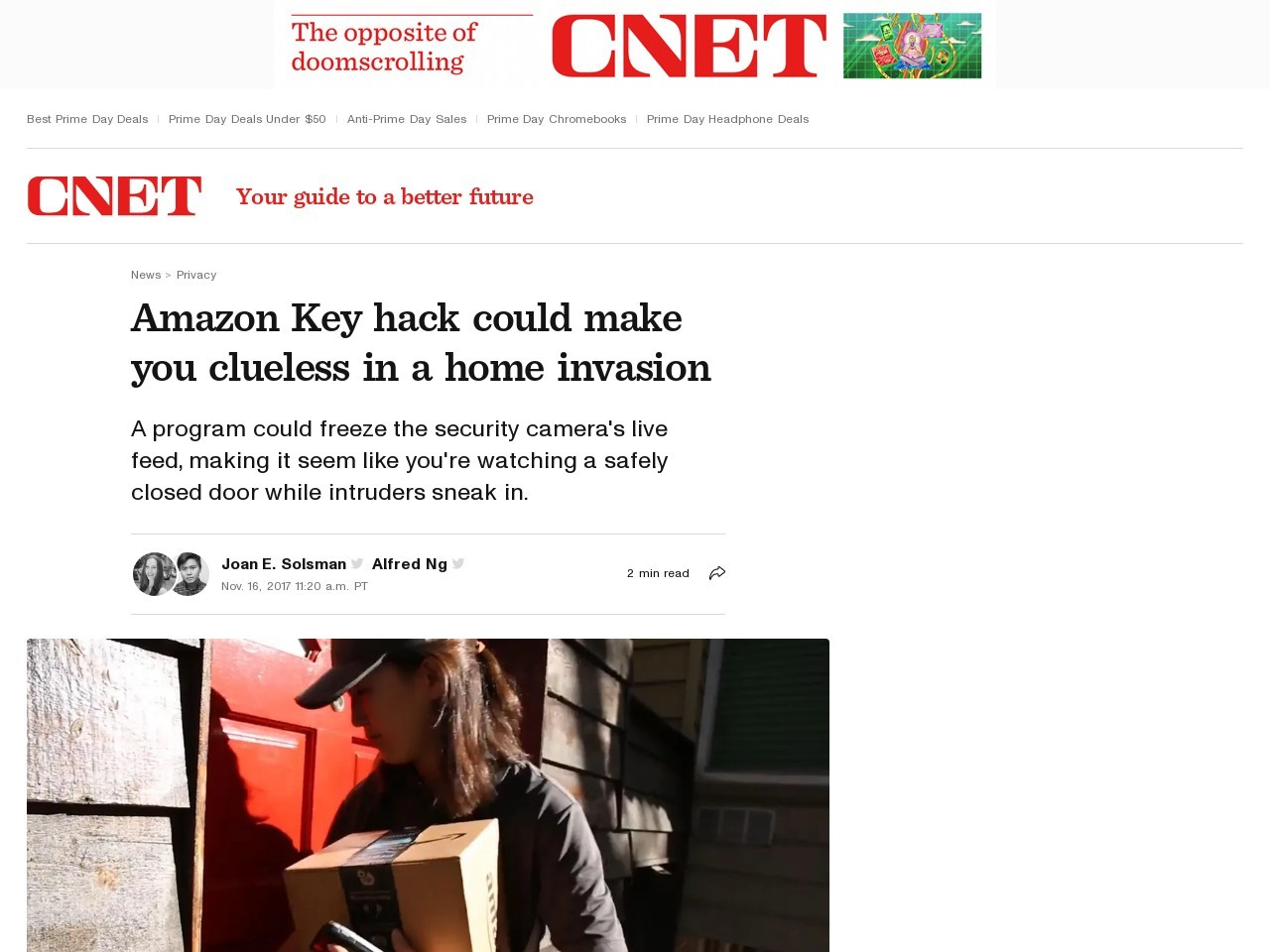 Amazon Key hack could make you clueless in a home invasion     – CNET