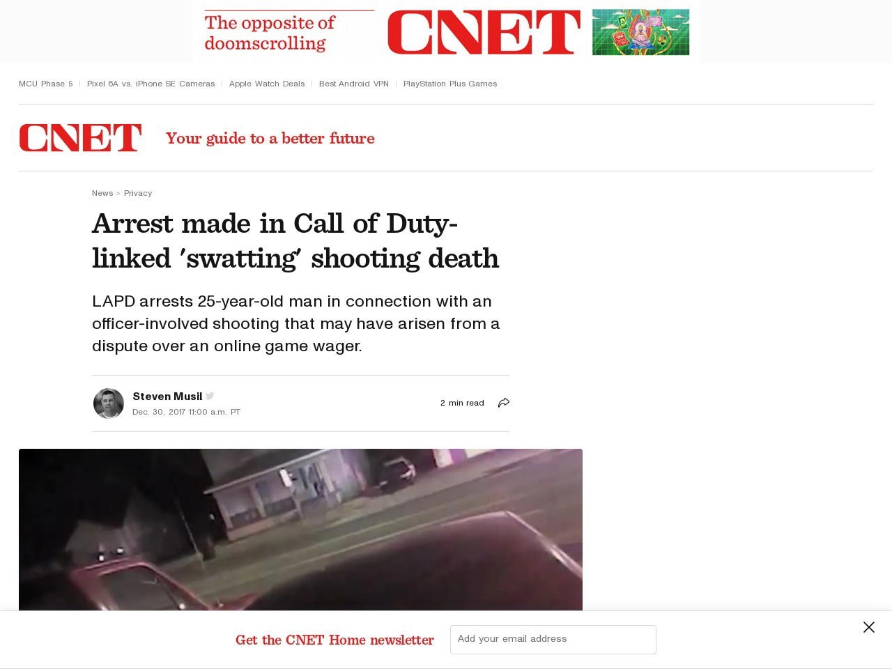 Arrest made in Call of Duty-linked 'swatting' shooting death     – CNET