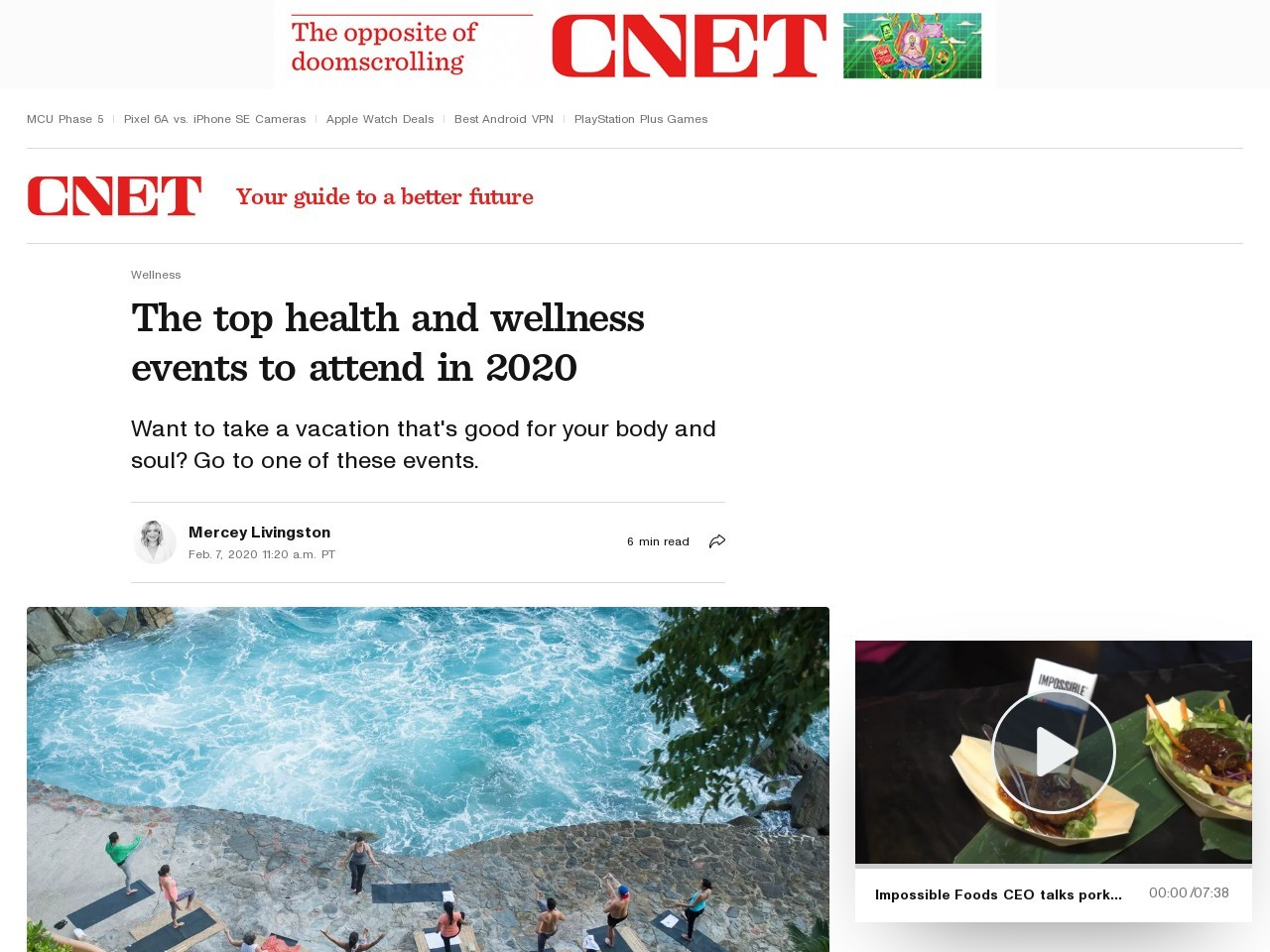 The top health and wellness events to attend in 2020