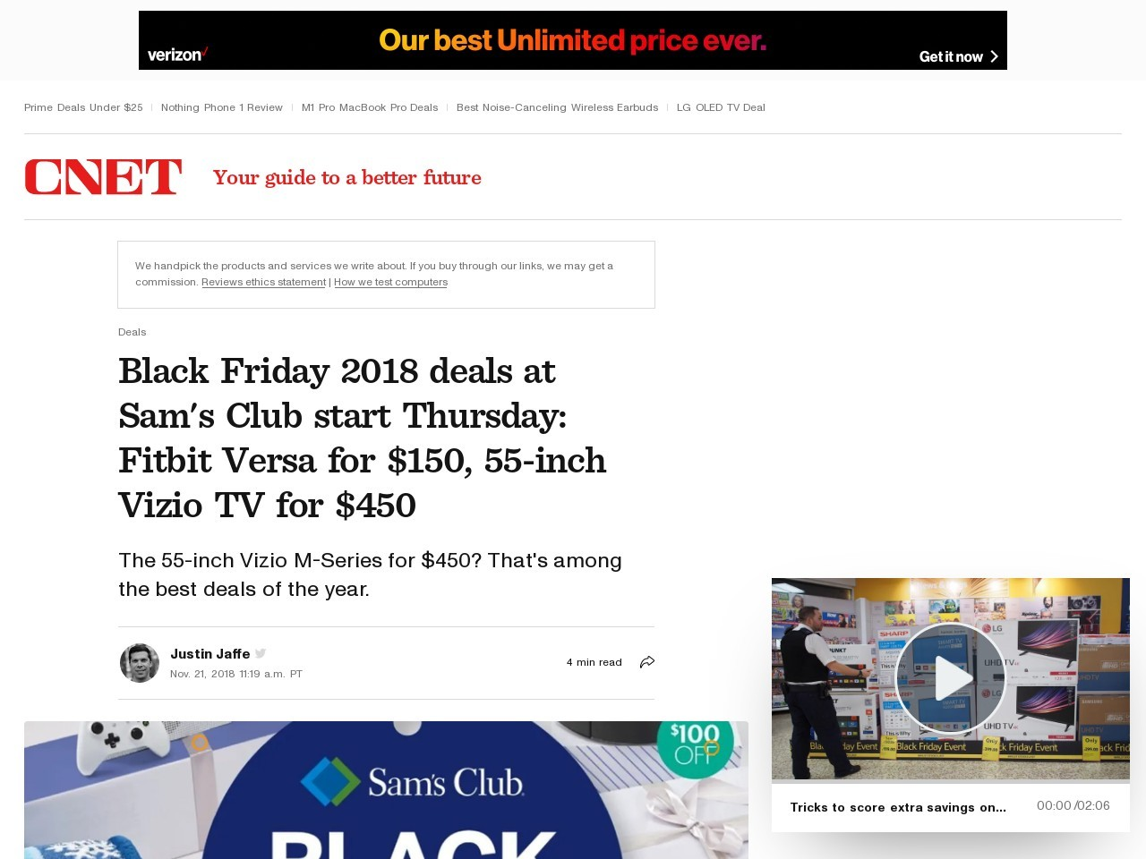 Black Friday 2018 deals at Sam's Club: Vizio M-Series TVs, HP laptops and more     – CNET