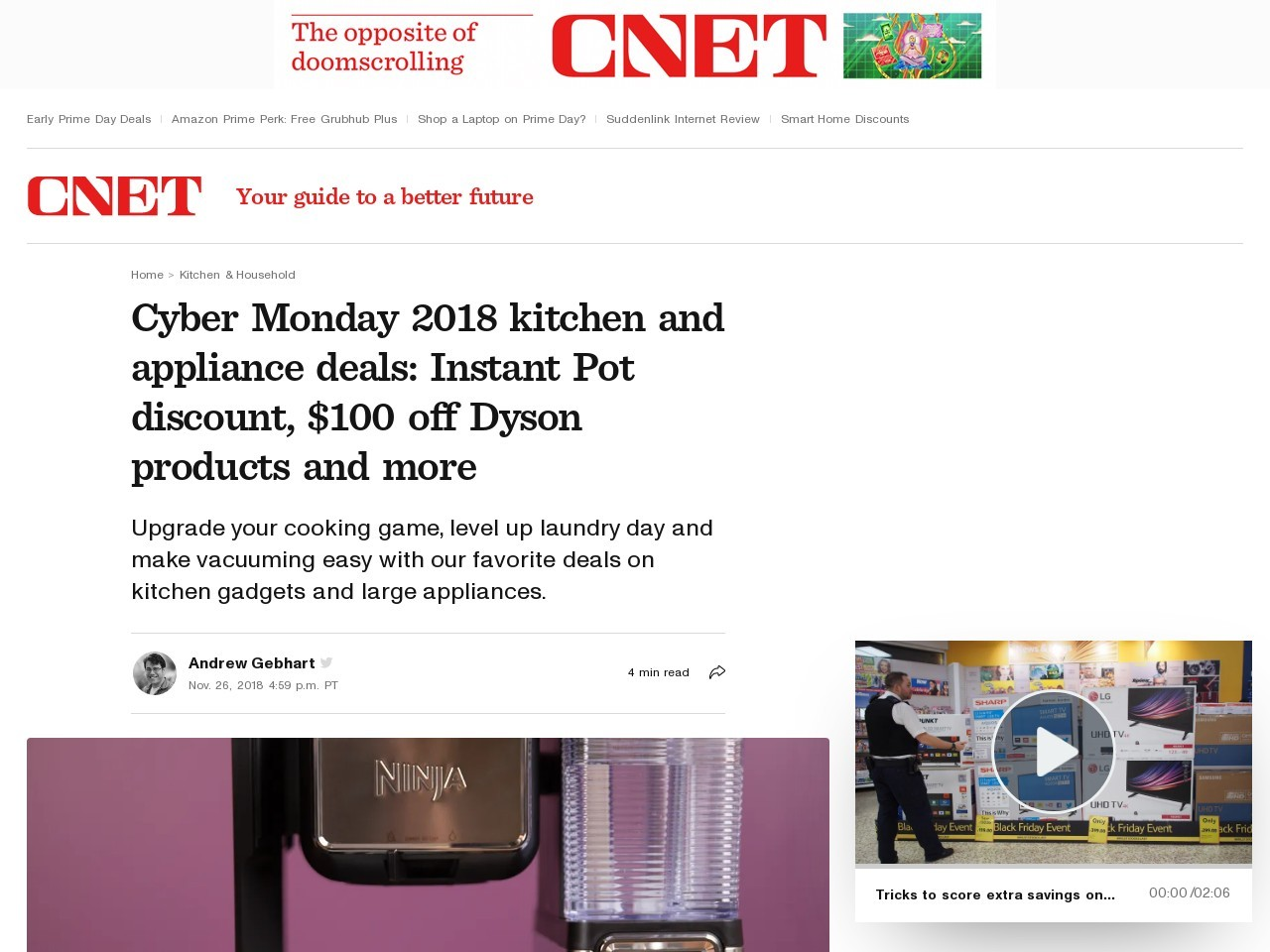 Cyber Monday 2018 kitchen and appliance deals starting now: Instant Pot's Black Friday discount, $100 off Vitamix products and more     – CNET