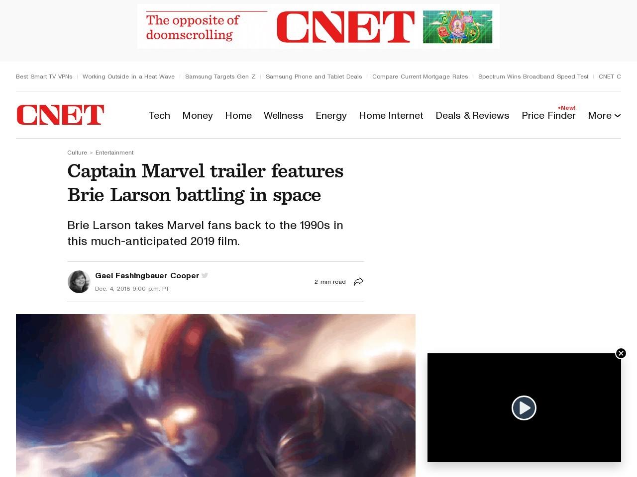 Captain Marvel trailer scores big during Monday Night Football     – CNET