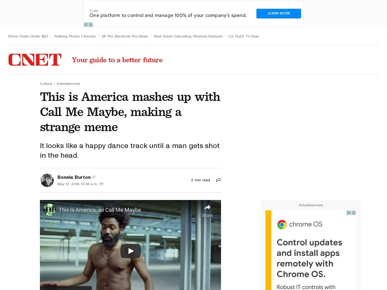 This is America mashes up with Call Me Maybe, making a strange meme     – CNET