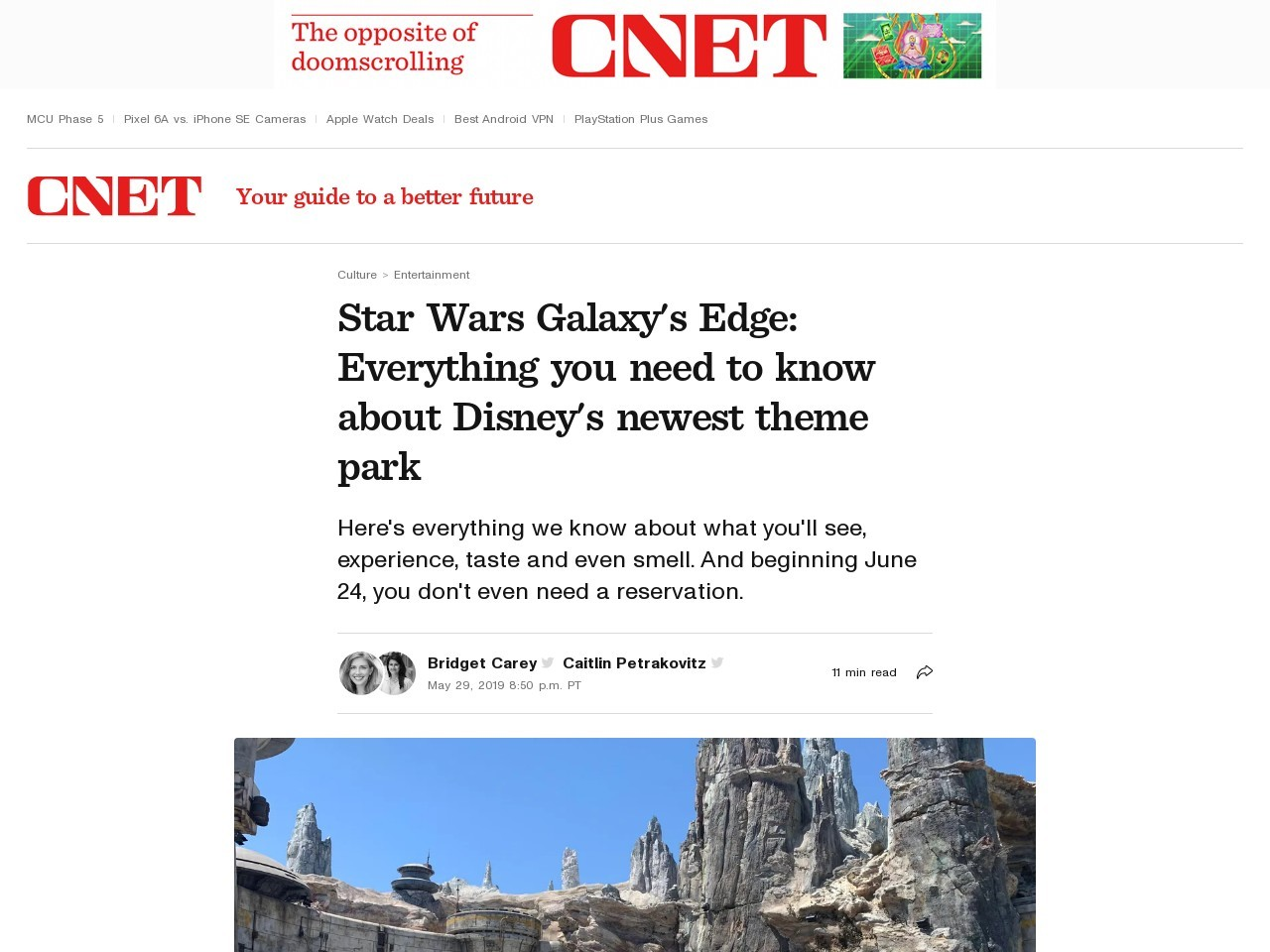 Star Wars land opening dates revealed: Everything we know     – CNET
