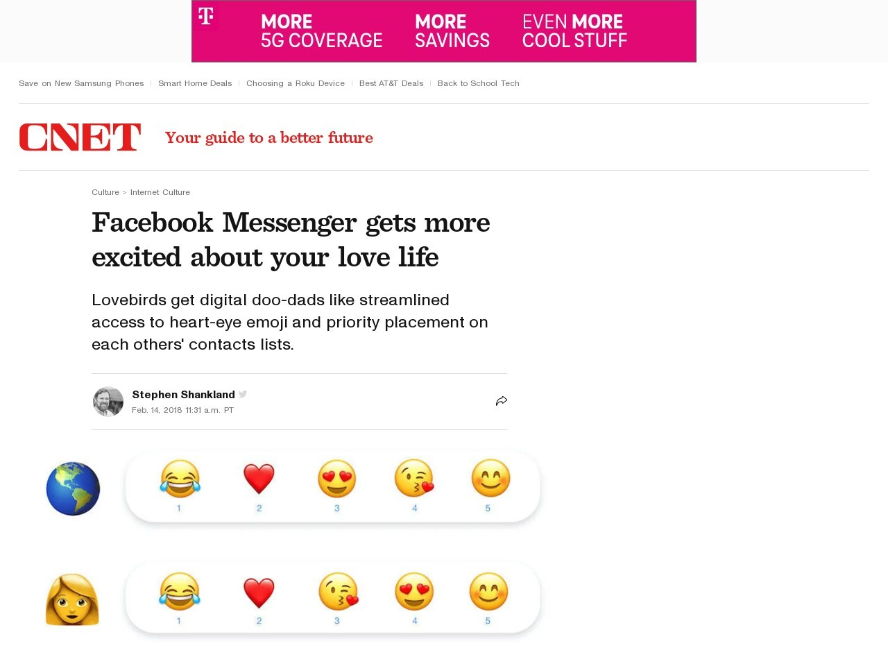 Facebook Messenger gets more excited about your love life     – CNET
