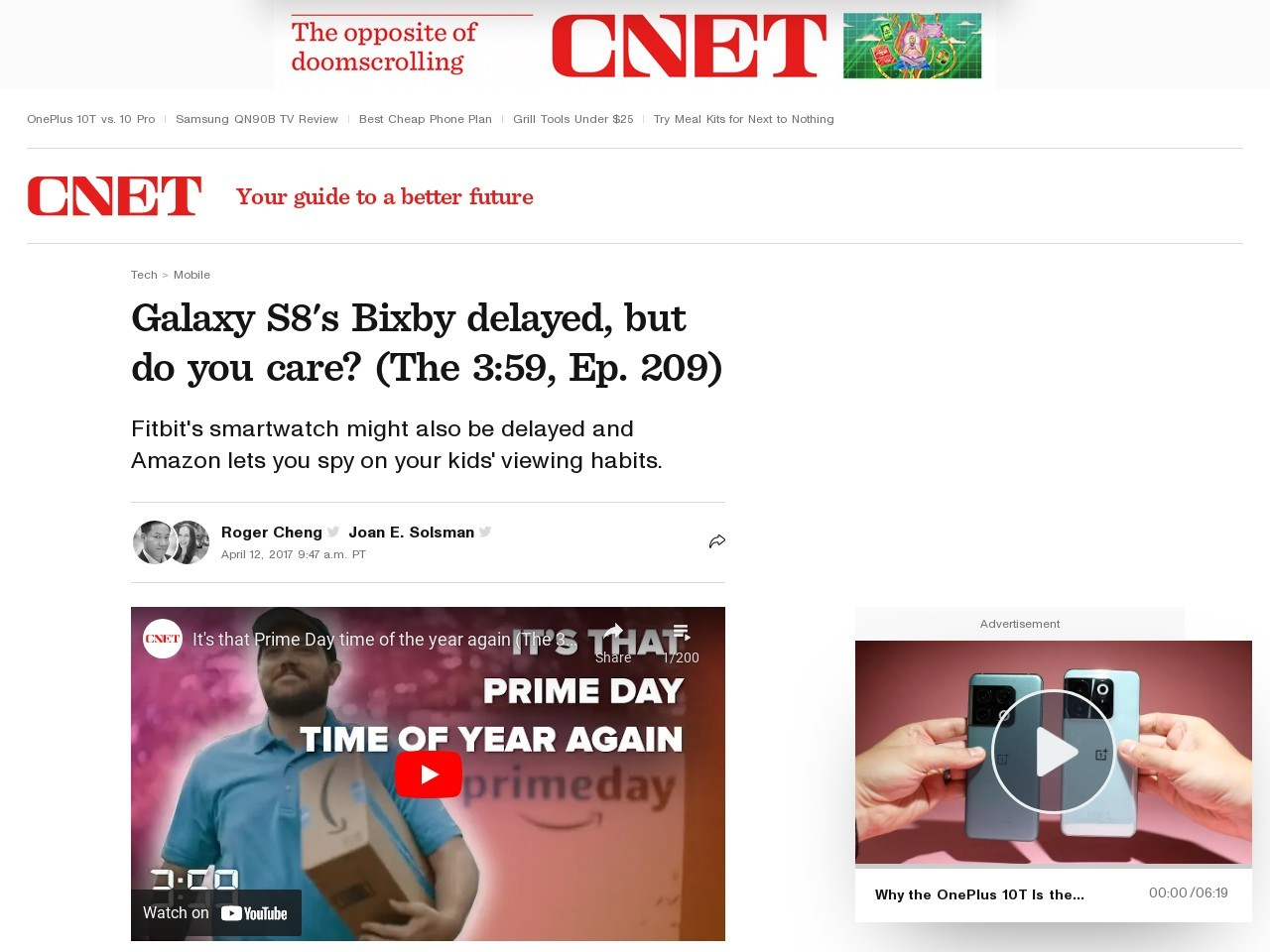 Galaxy S8's Bixby delayed, but do you care? (The 3:59, Ep. 209)     – CNET