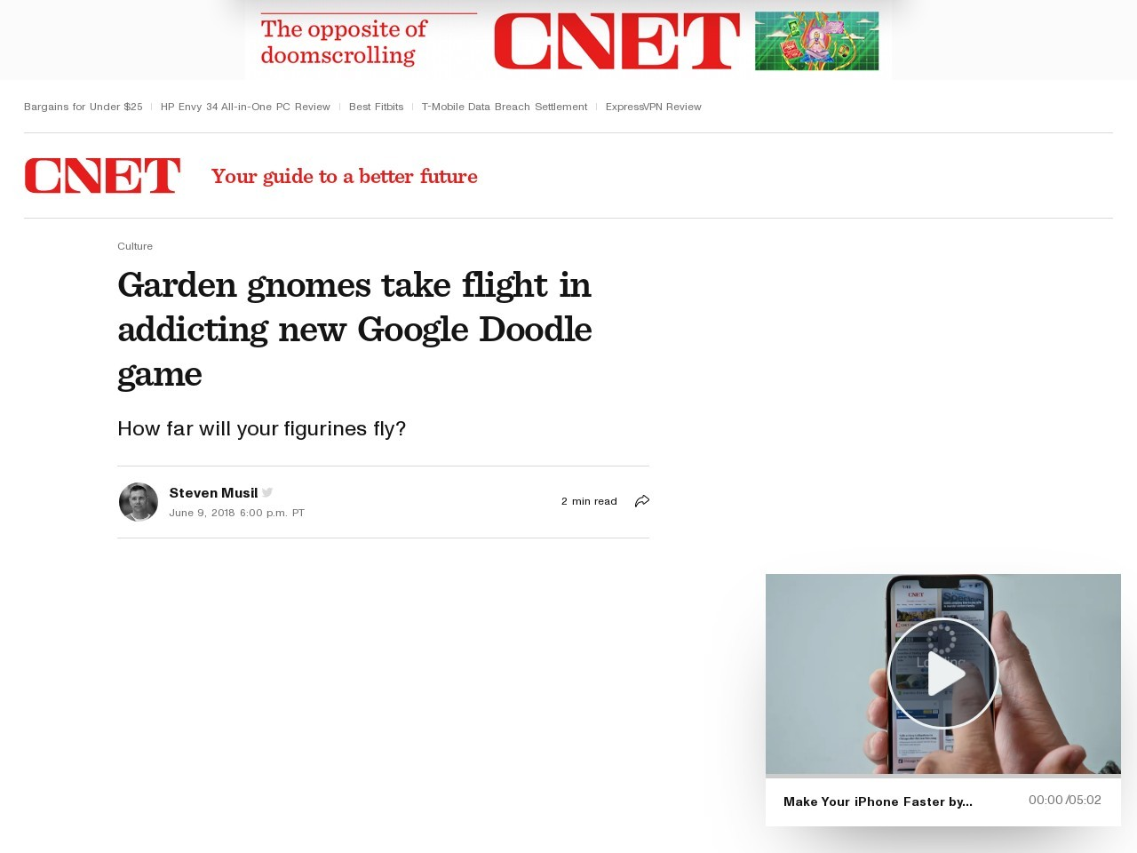 Garden gnomes take flight in addicting new Google Doodle game     – CNET