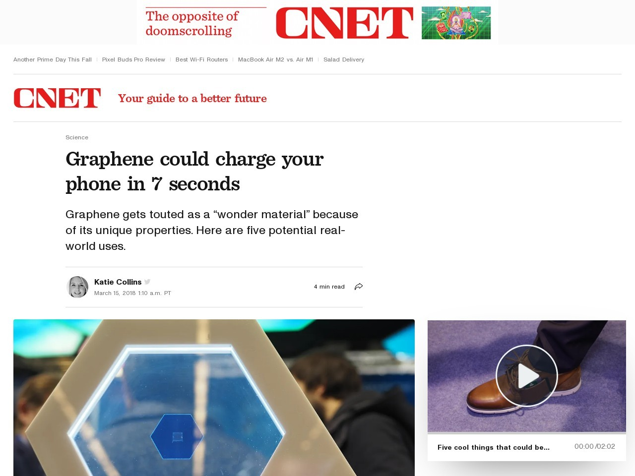 Want to charge your smartphone in 7 seconds? Look to graphene     – CNET