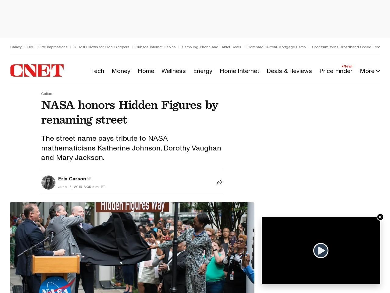 NASA honors 'Hidden Figures' by renaming street     – CNET