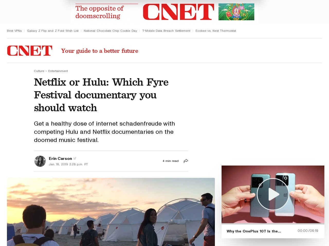 Netflix or Hulu: Which Fyre Festival documentary you should watch     – CNET