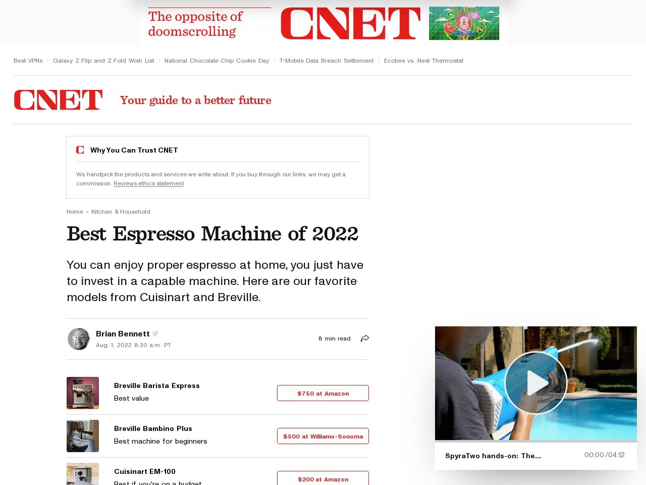 The best home espresso machines for sale right now     – CNET