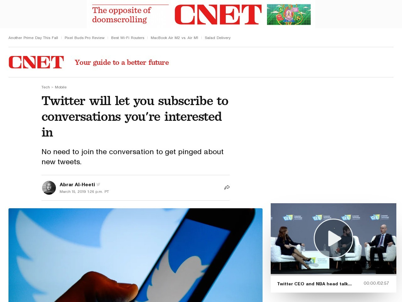 Twitter will let you subscribe to conversations you're interested in     – CNET