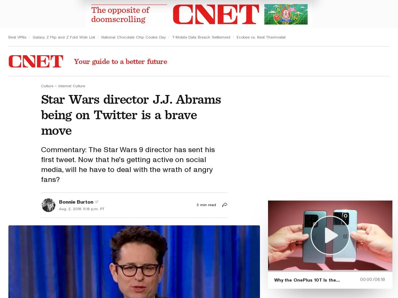 Why Star Wars director J.J. Abrams joining Twitter is extremely brave     – CNET
