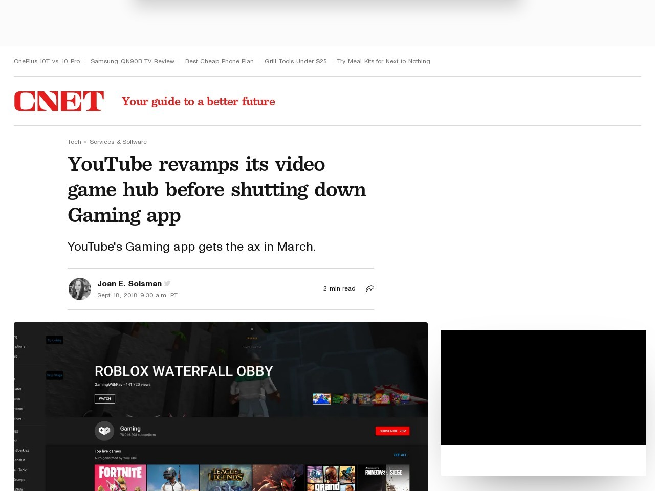 YouTube revamps its gaming homebase ahead of shutting down its Gaming app     – CNET