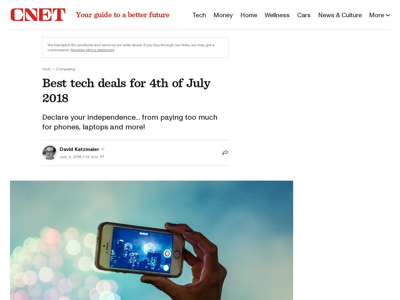 Best tech deals for 4th of July 2018     – CNET