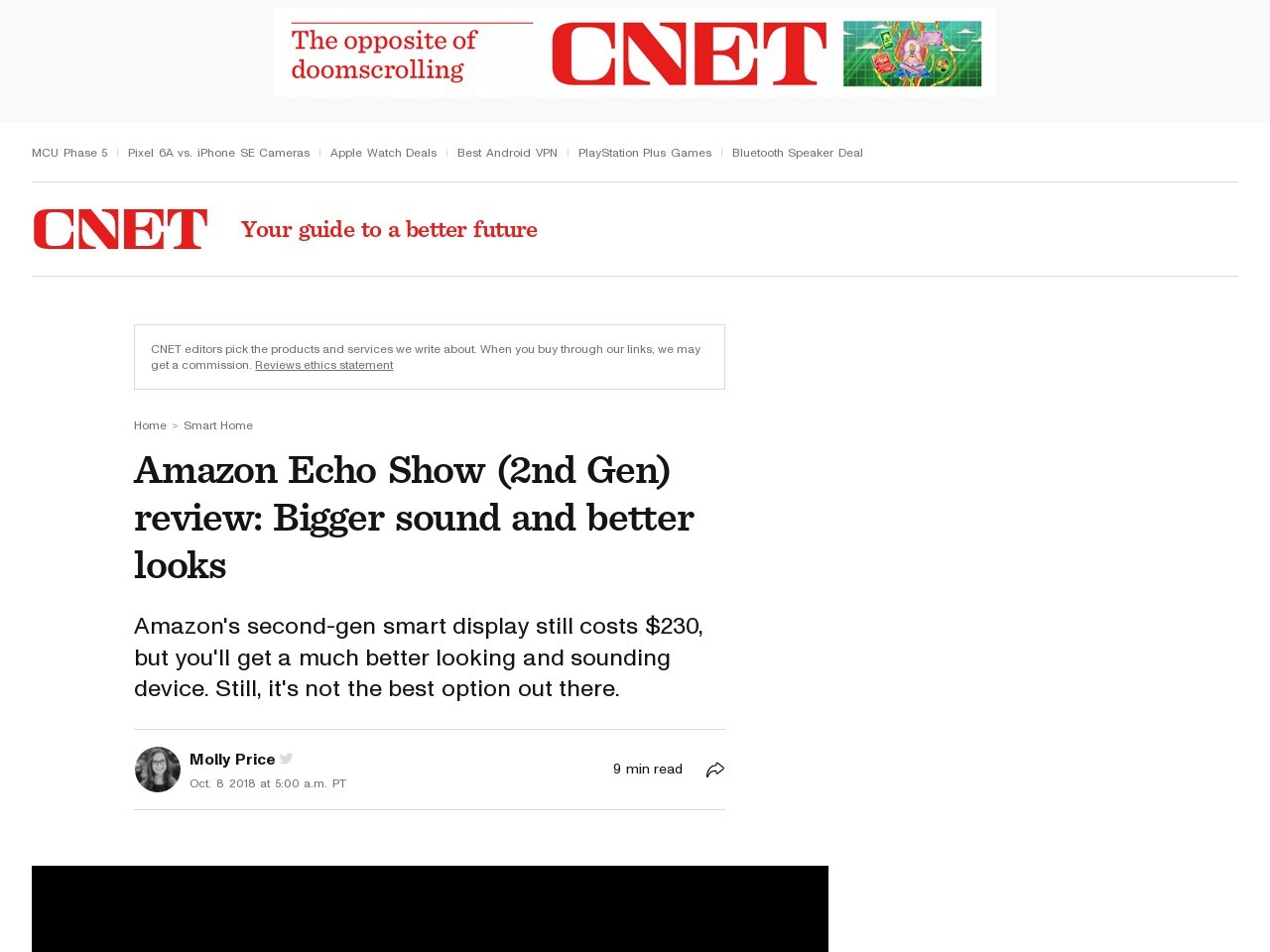 Amazon Echo Show 2.0 review: Amazon's revamped Echo Show has bigger sound and better looks     – CNET