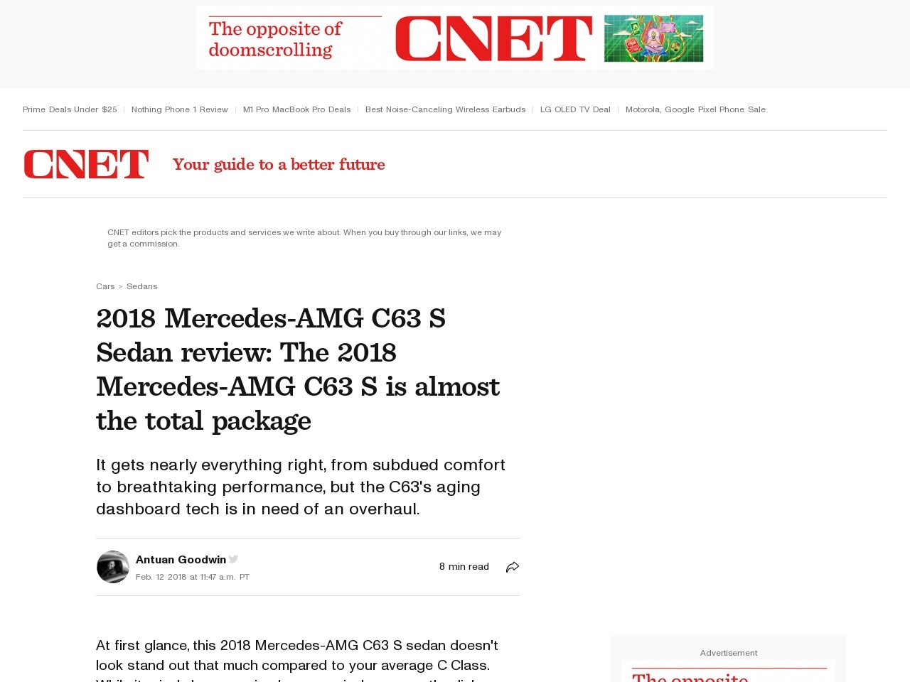 2018 Mercedes-AMG C63 S Sedan review     – Roadshow