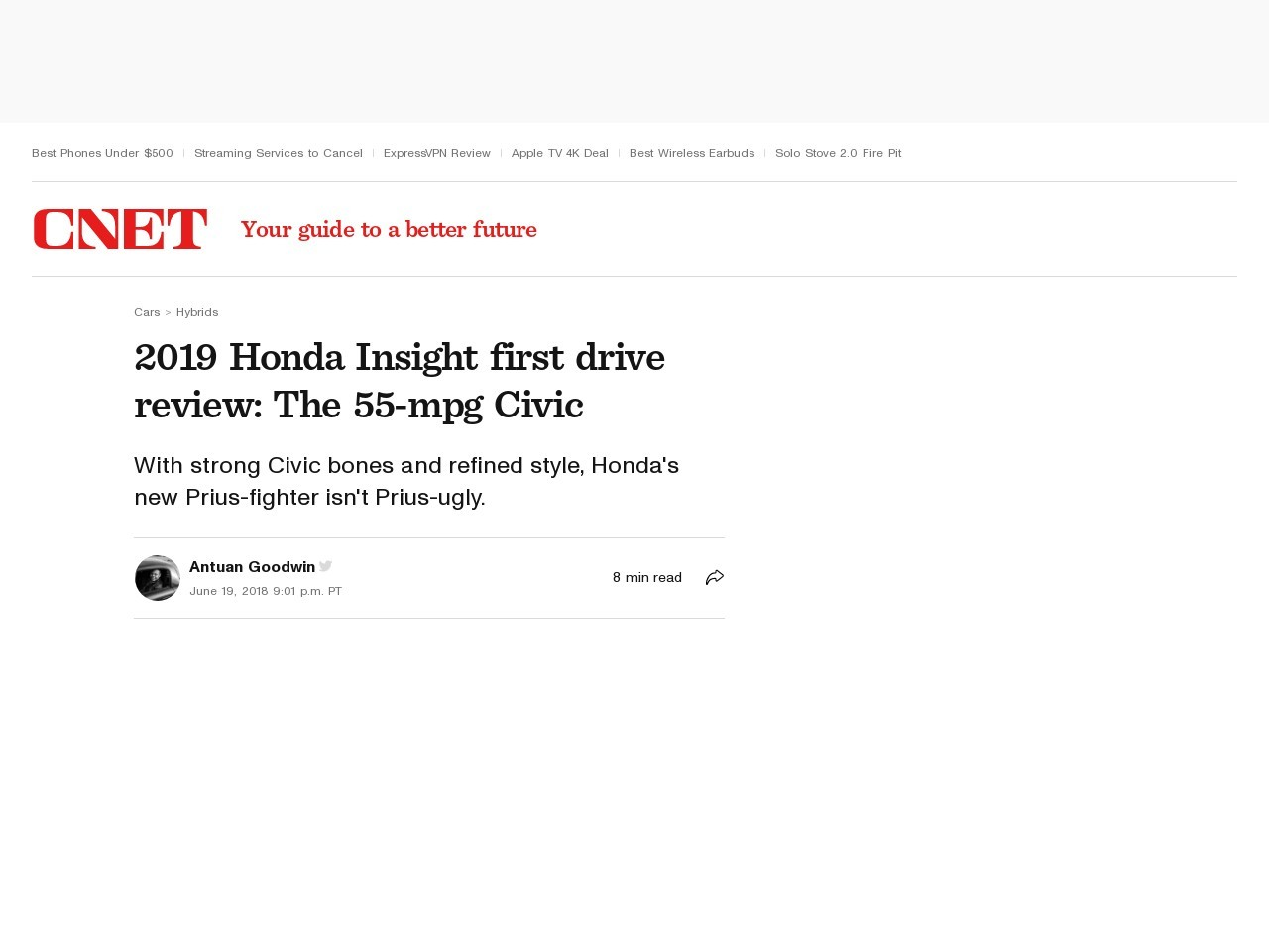 2019 Honda Insight first drive review: The 55-mpg Civic     – Roadshow