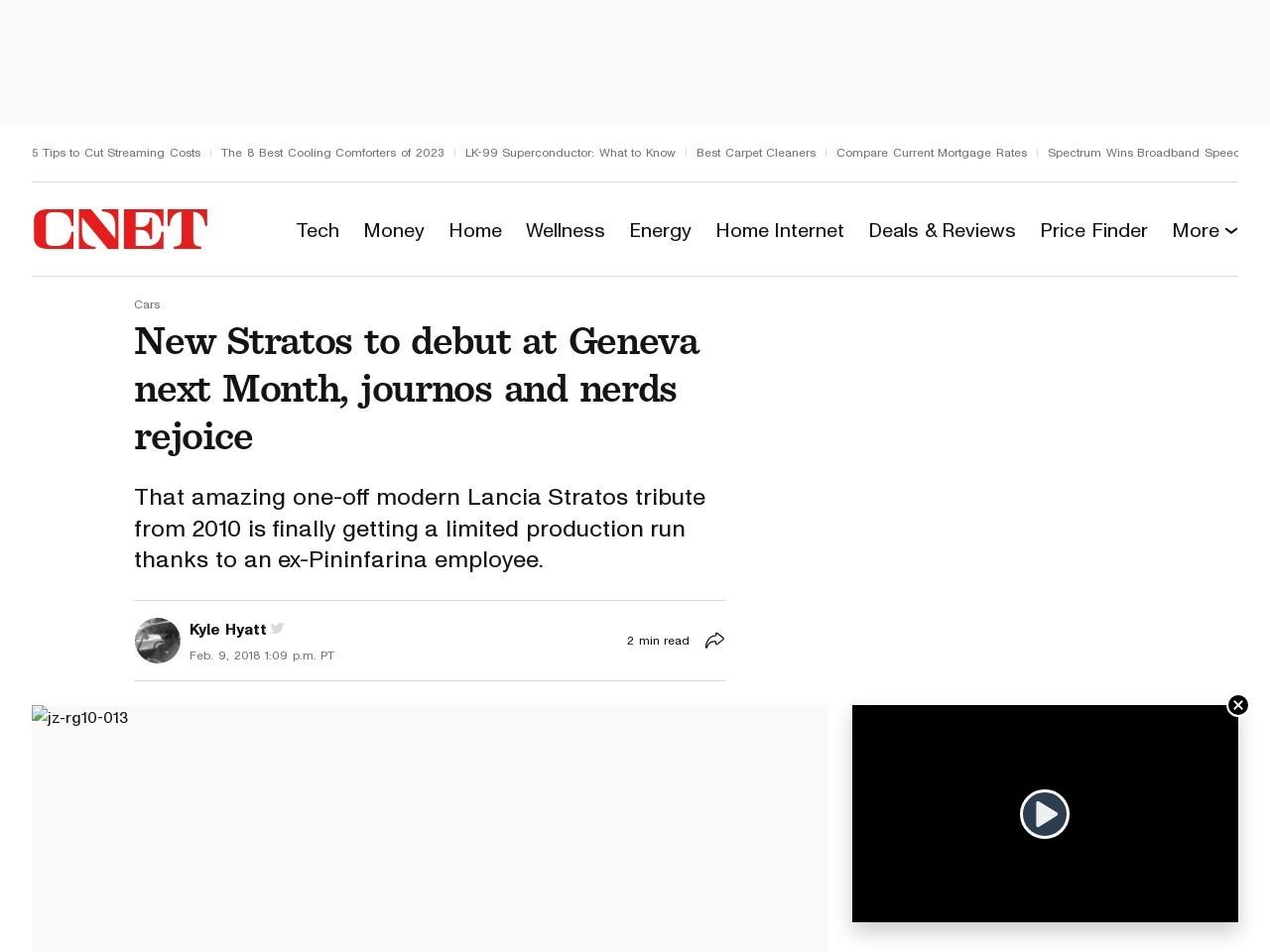 New Stratos to debut at Geneva next Month, journos and nerds rejoice     – Roadshow