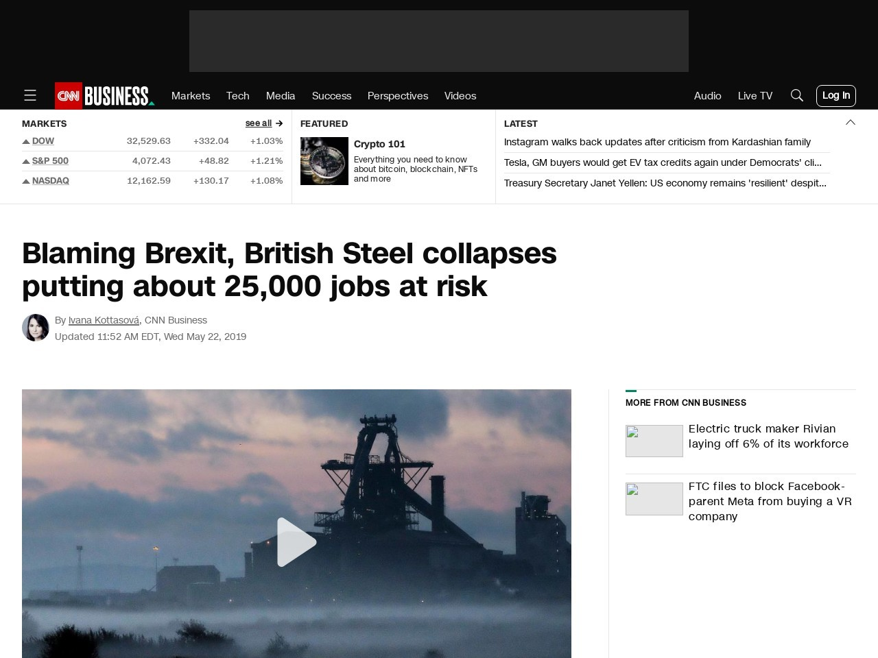 Blaming Brexit, British Steel collapses putting nearly 25,000 jobs at risk