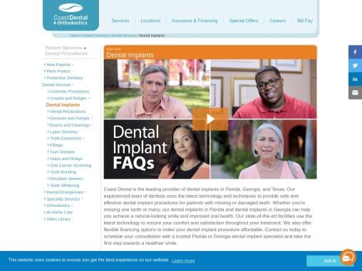 Florida Dental Implants   Georgia Dental Implants   Dental Implants FL & GA