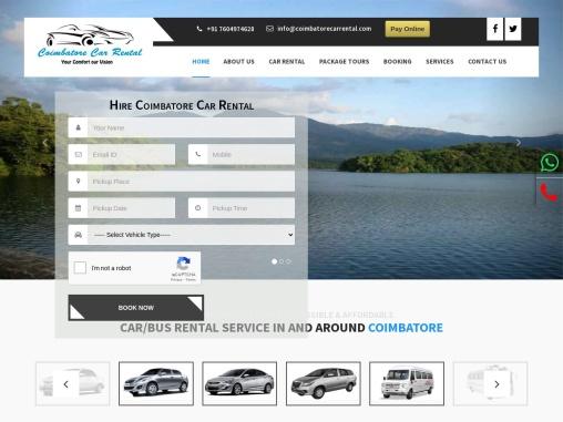 Coimbatore Car Rental, Car Rental Services