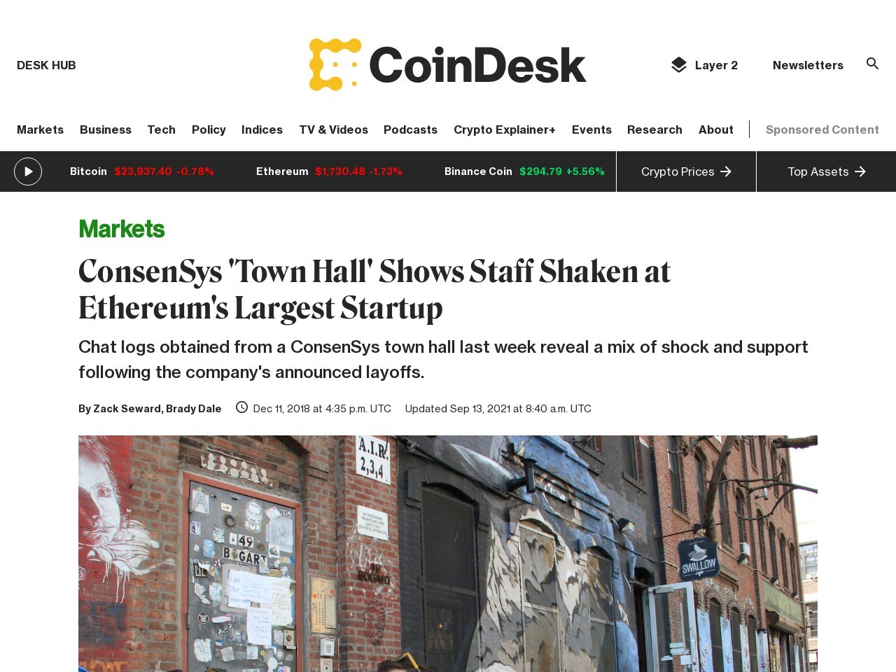 ConsenSys 'Town Hall' Shows Staff Shaken at Ethereum's Largest Startup