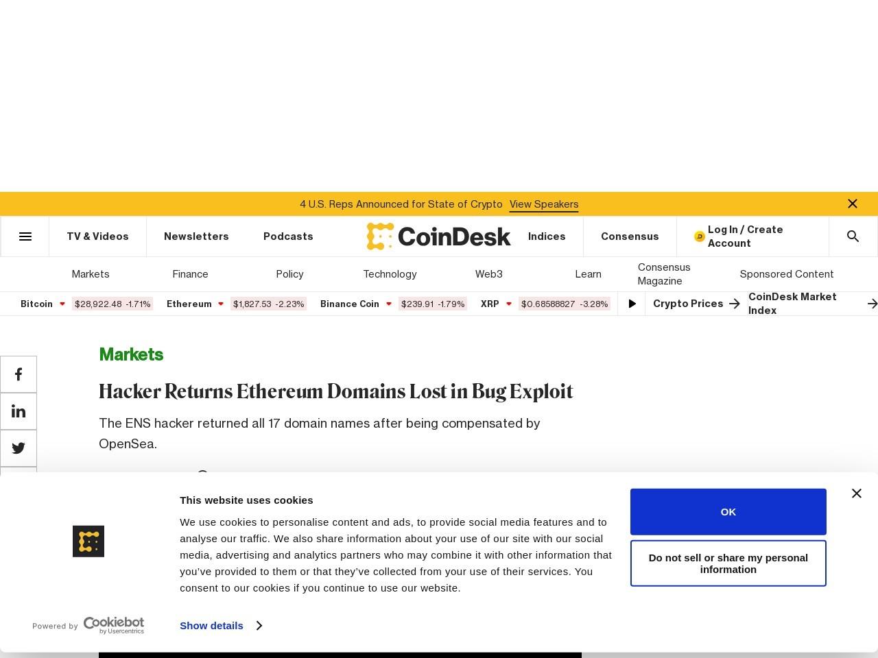 Hacker Returns Ethereum Domains Lost in Bug Exploit