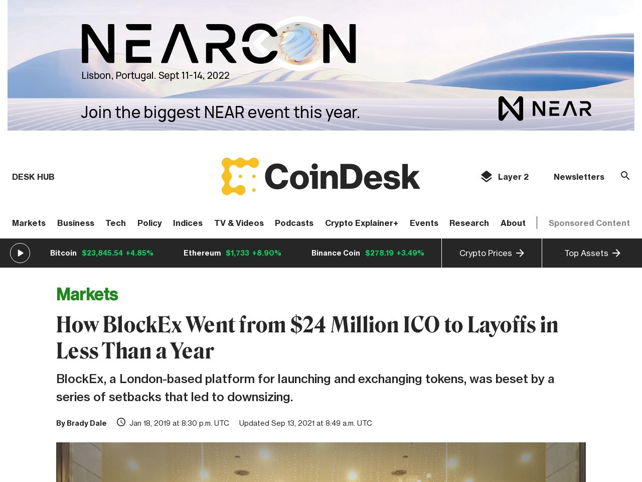 How BlockEx Went from $24 Million ICO to Layoffs in Less Than a Year