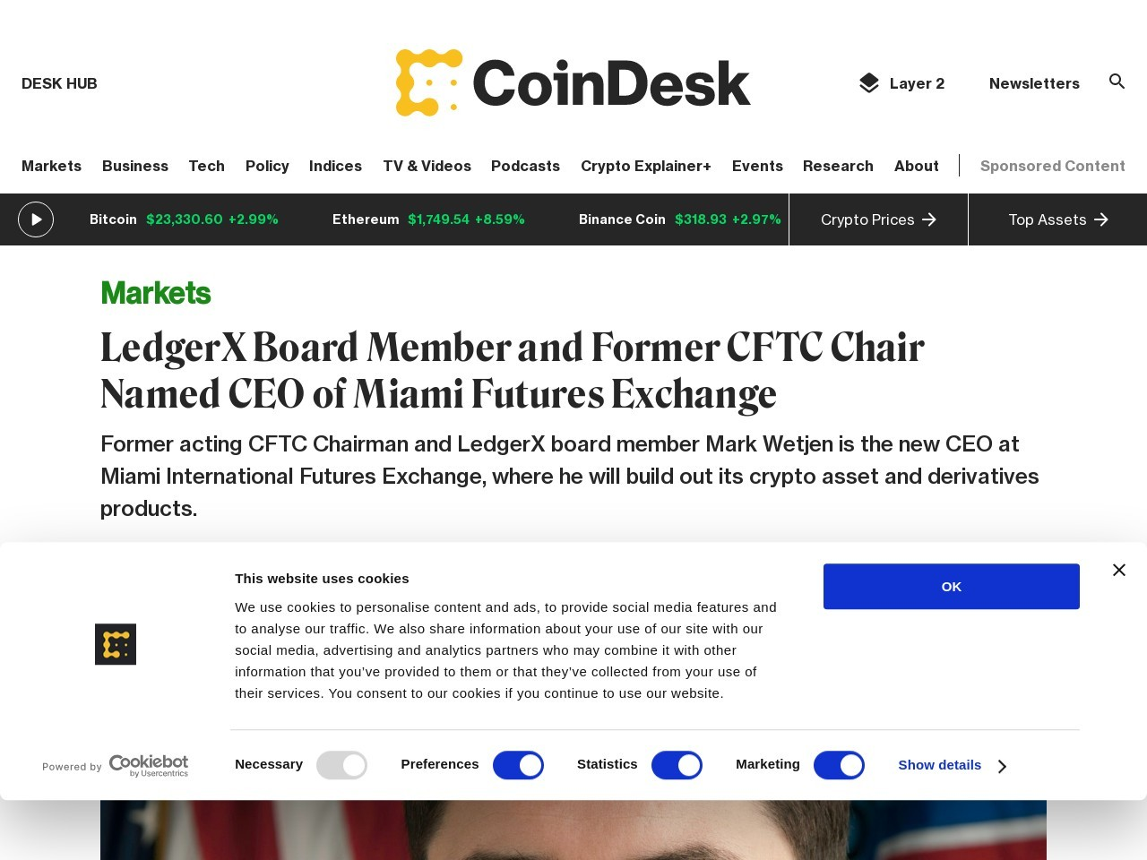 LedgerX Board Member and Former CFTC Chair Named CEO of Miami Futures Exchange