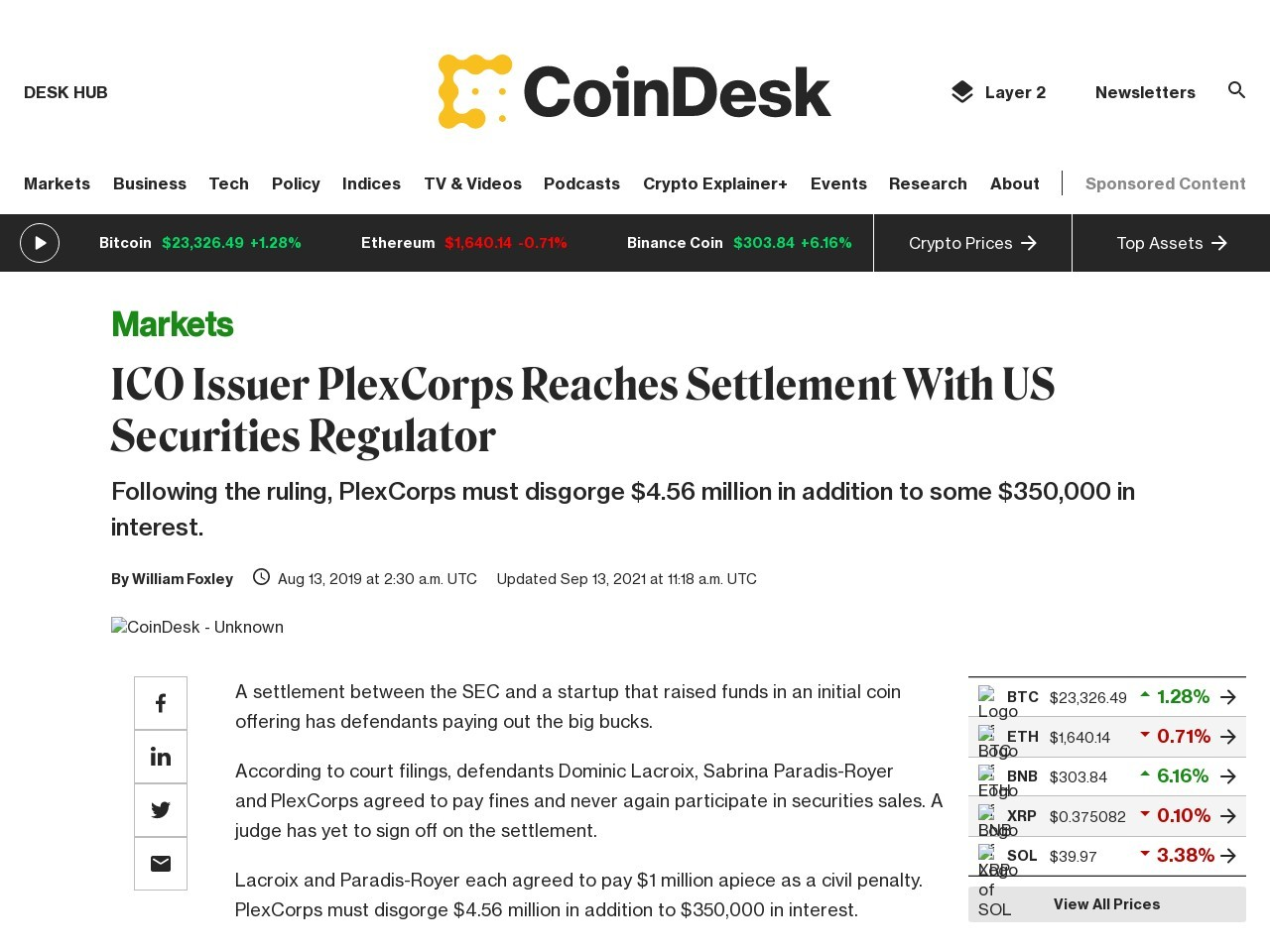 ICO Issuer PlexCorps Reaches Settlement With US Securities Regulator