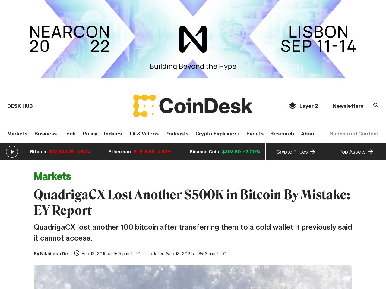 QuadrigaCX Lost Another $500K in Bitcoin By Mistake: EY Report