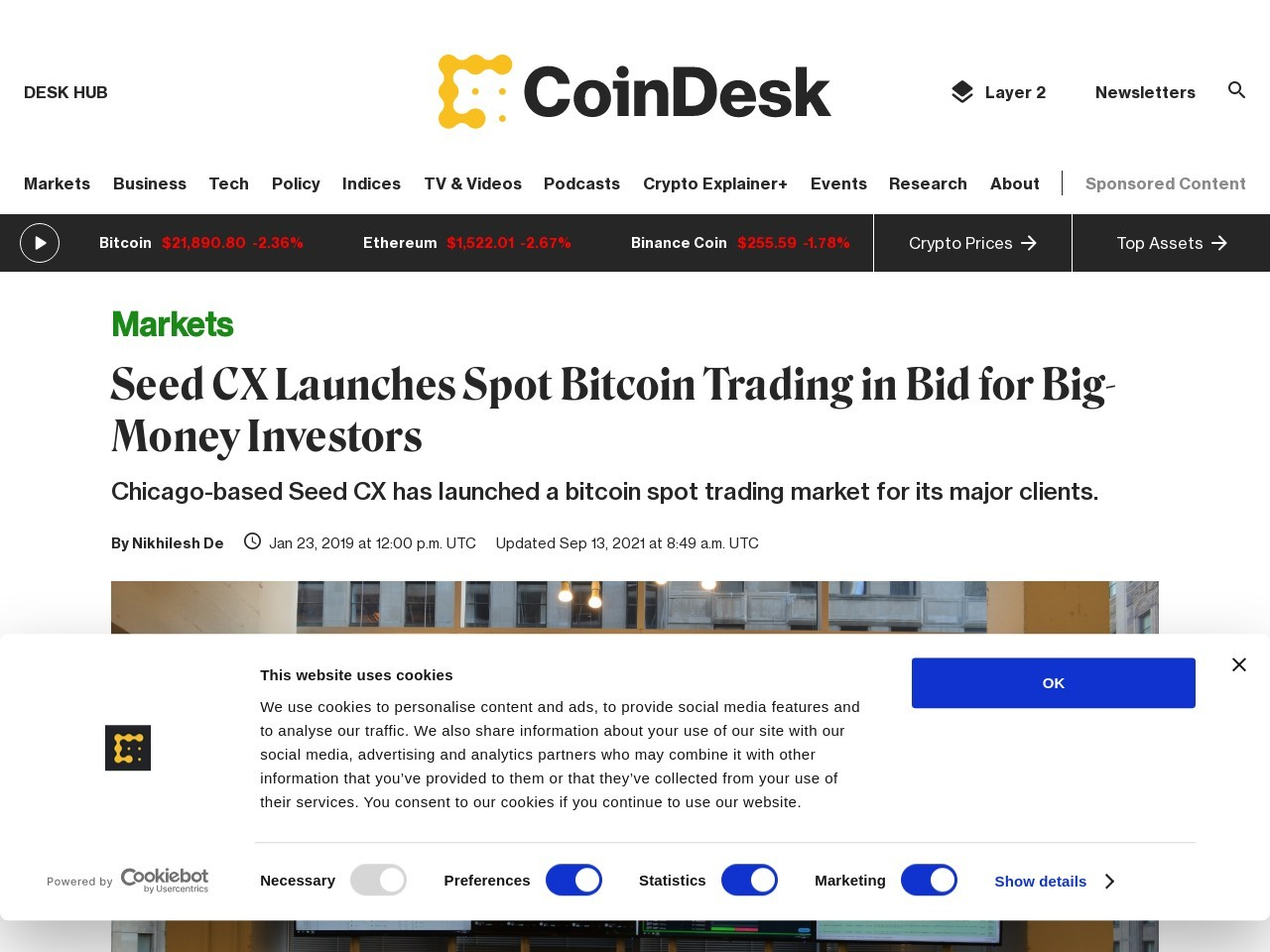 Seed CX Launches Spot Bitcoin Trading in Bid for Big-Money Investors