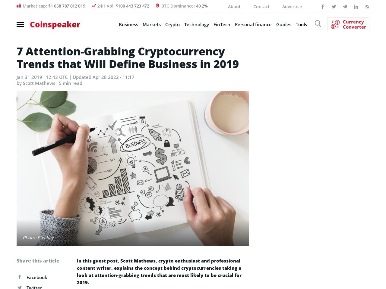 7 Attention-Grabbing Cryptocurrency Trends that Will Define Business in 2019