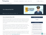 How to Become a Navy Pilot | College Disha