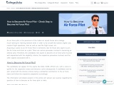 How to Become an Air Force Pilot   College Disha