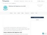 CBSE Board 12th Registration Form   College Disha