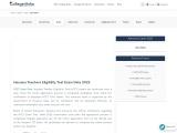HTET Exam Date 2021   College Disha