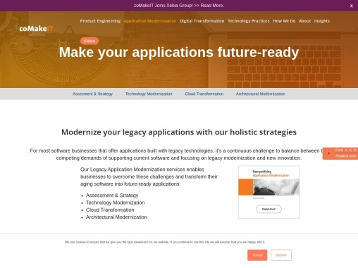 Best Application Modernization Services in Netherlands |coMAKEIT.