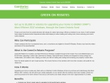 GreenOn windows and insulation rebate