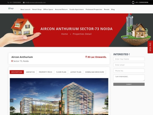 Buy Commercial Office spaces, Retail Shops at Aircon Anthurium in Sector 73 Noida